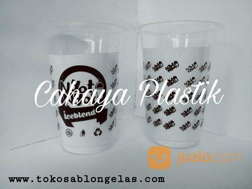 Sablon Gelas Plastik Melingkar (15244349) di Kota Malang