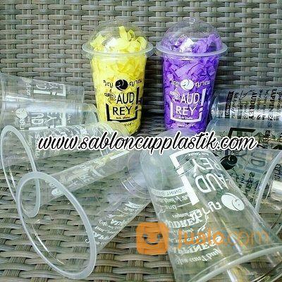 Sablon Gelas Plastik 16 Oz MIx 2 Warna (15740081) di Kota Malang