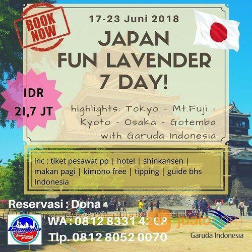 JAPAN FUN LAVENDER GROUP LEBARAN 17 23 JUNI 2018 7 Hari (15779113) di Kota Jakarta Timur