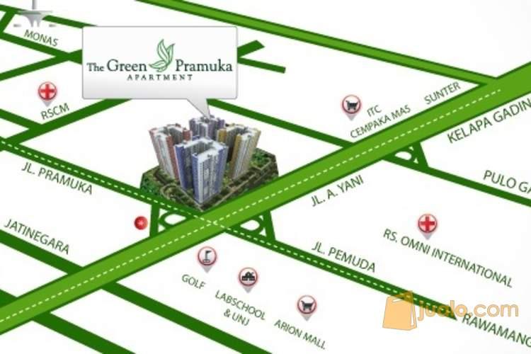Unit Connecting Full Furnish Green Pramuka City (1586798) di Kota Jakarta Pusat