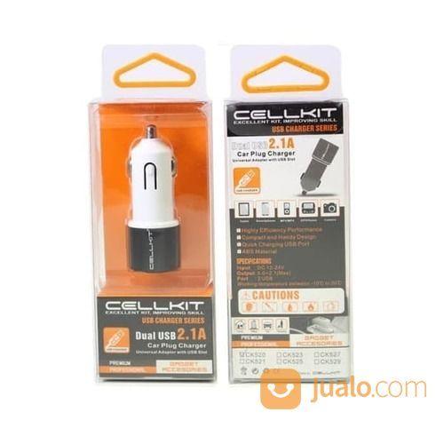 CHARGER MOBIL CELLKIT 520 2 OUTPUT USB (CK 520) (15897269) di Kota Surabaya
