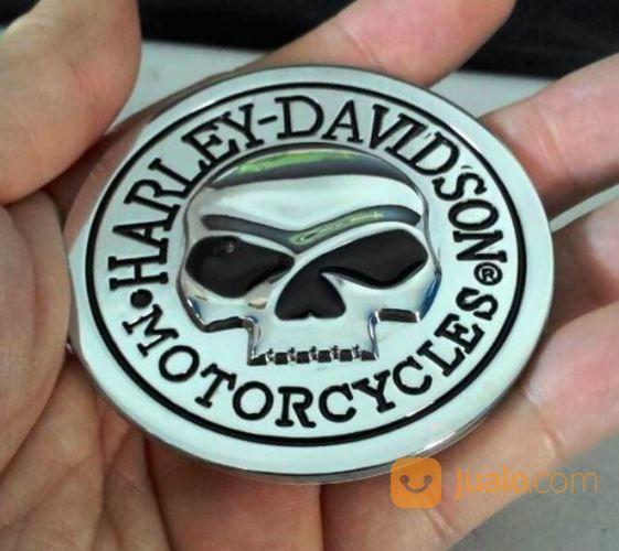 Emblem Metal 3D Silver Harley Skull (16212449) di Kota Bogor