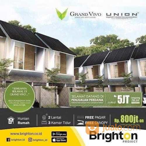 LUNCHING Rumah Grand Vivo Premium BEBAS Banjir Lokasi STRATEGIS (16287481) di Kota Surabaya
