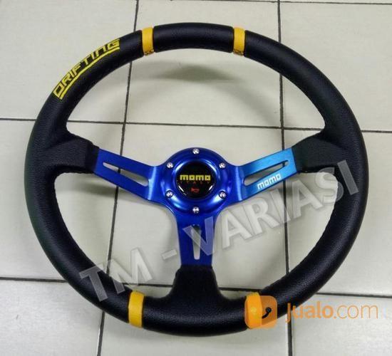 Stir Racing Import Momo Drifting Celong 14 Inchi Palang Biru List Kuning (16312437) di Kota Jakarta Pusat