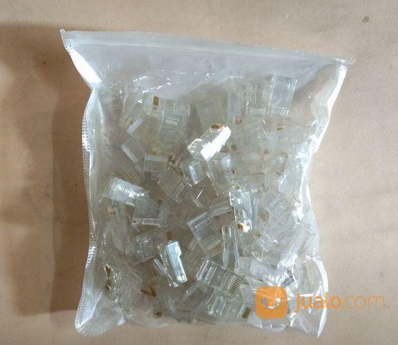 Connector Rj 45 Isi 100 Per Pack # Aksesoris Komputer (16399057) di Kota Surabaya