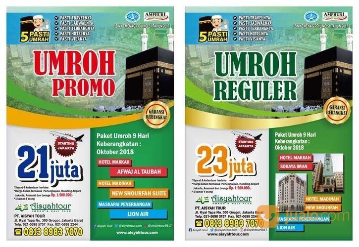 PROMO UMROH PT AISYAH TOUR OKT 2018 - MARET 2019 (16477049) di Kota Jakarta Barat