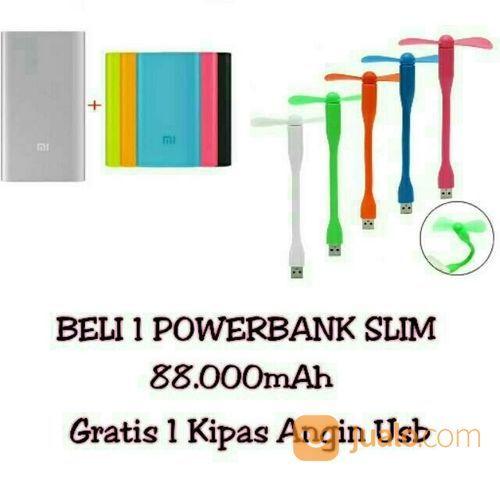 PROMO BELI 1 POWERBANK SLIM 88.000MAH GRATIS 1 KIPAS USB (16496337) di Kota Bekasi