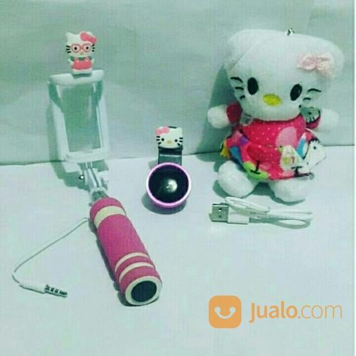 Paket Hemat Hello Kitty 3in1 * Powerbank Boneka + Superwide + Tongsis * (16496485) di Kota Bekasi