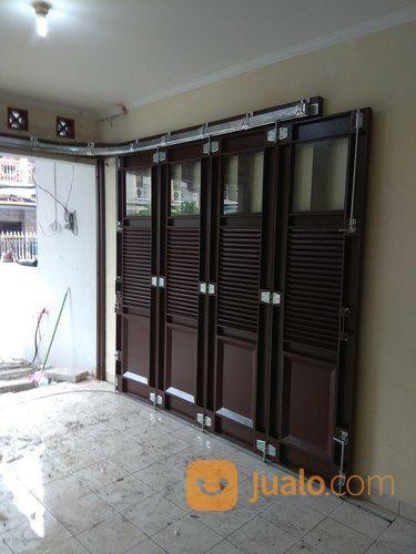 Pintu Garasi Besi Sliding Tikung | Tangerang Selatan | Jualo