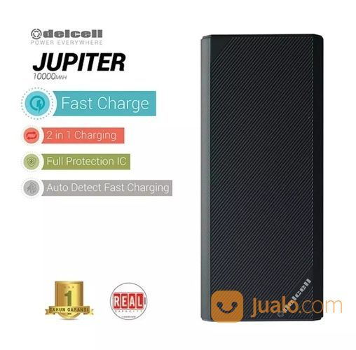 Powerbank PB Delcell JUPITER - 10.000 MAh [REAL] (Produk Baru) (16794155) di Kota Pekanbaru