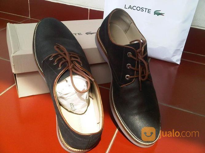 Sepatu Kulit Asli LACOSTE Baru Gress Uk 44 Warna Hitam Cocok Utk Di Kantor / Pesta (16888675) di Kota Jakarta Barat