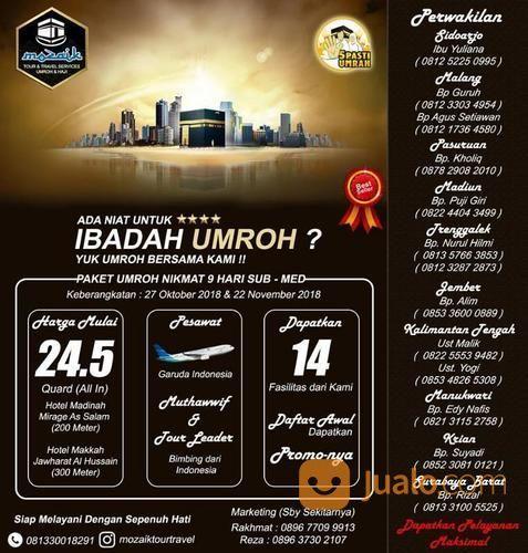 Daftarkan Umroh 27 Oktober 2018 (16920619) di Kota Surabaya