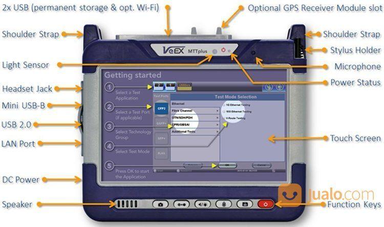 OTDR VeEx | OTDR VeEX MTT Plus 410 ( 45db 3 Wavelanght ) (17050599) di Kota Tangerang