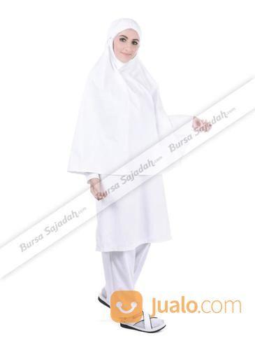 Setelan Haji Umroh Warna Putih Busana Muslim Wanita Amara By Sykava Kab Bandung Jualo