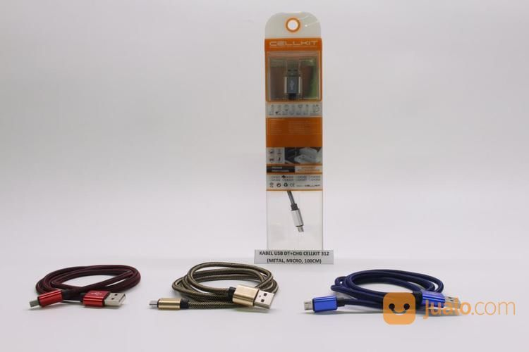 KABEL USB DT+CHG CELLKIT 312 (METAL, MICRO, 100CM) (17133671) di Kota Surabaya