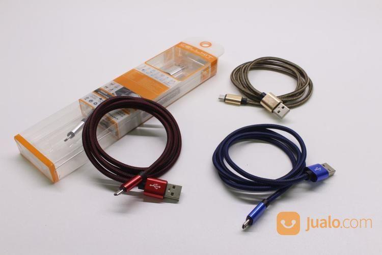 KABEL USB DT+CHG CELLKIT 312 (METAL, MICRO, 100CM) (17133675) di Kota Surabaya