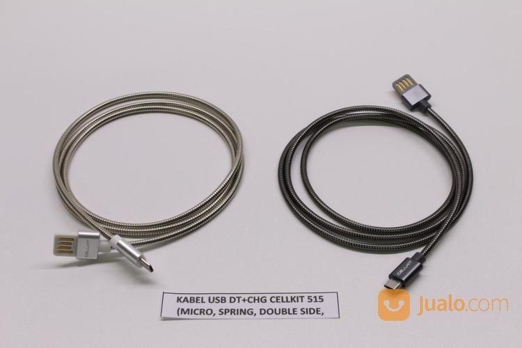 KABEL USB DT+CHG CELLKIT 515 (MICRO, SPRING, DOUBLE SIDE, 100CM) (17142343) di Kota Surabaya