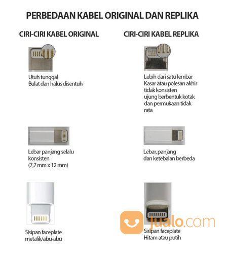 KABEL DATA / LIGHTNING CABLE ORIGINAL 100% FOR APPLE IPHONE IPAD IPOD (17291543) di Kab. Tangerang