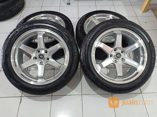 Velg Racing TE37 Ring 18 Lubang Pcd 5X114,3 Lebar Rata 8 Offset 45 Plus Ban Achiles 225 40 (17297667) di Kota Bekasi