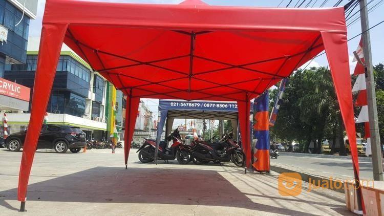 Tenda Lipat Merah Polos Ukuran 3x4.5 (17375215) di Kota Jakarta Barat