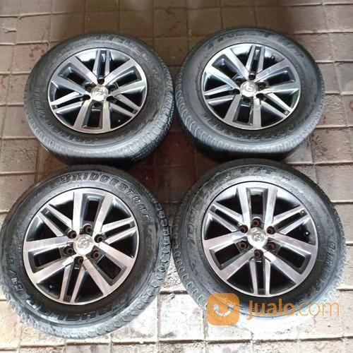 Velg Original Mobil Fortuner TRD R18 Pcd 6X139,7 Plus Ban 265 60 (17380127) di Kota Bekasi