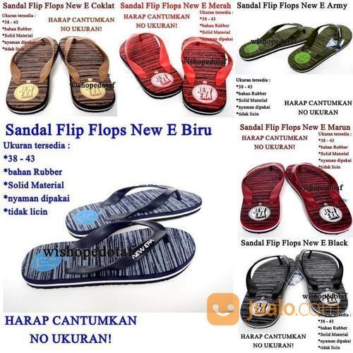 Sandal Karet Flip Flops New E (17471895) di Kota Jakarta Timur