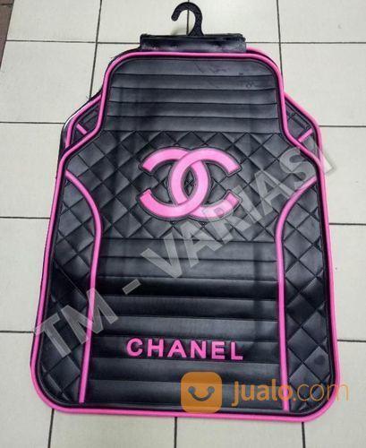 Karpet Mobil Universal Motif Chanel Dasar Hitam Logo Pink Terang (17583351) di Kota Jakarta Pusat