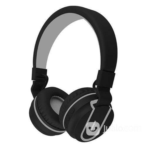 Kanen Wireless Stereo Bluetooth Headphone With Mic - BT-05 - Black (17687255) di Kota Jakarta Pusat