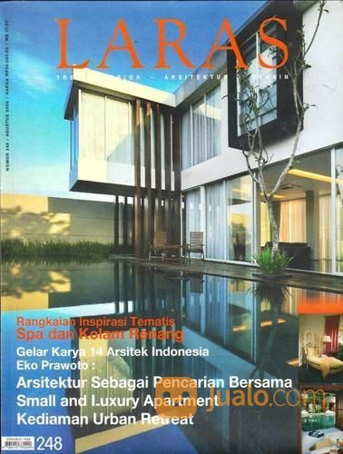 Majalah Arsitek Laras Edisi Agustus 2009 Yogyakarta Jualo