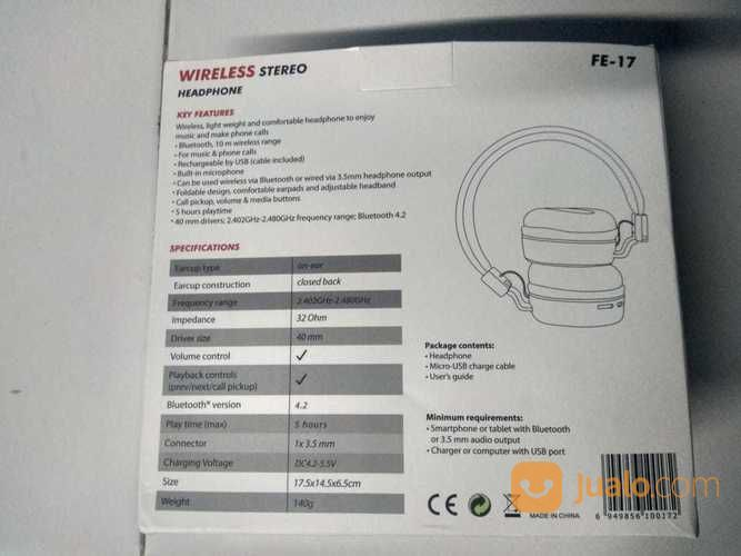Headset Bluetooth FE17 (17932171) di Kab. Bekasi