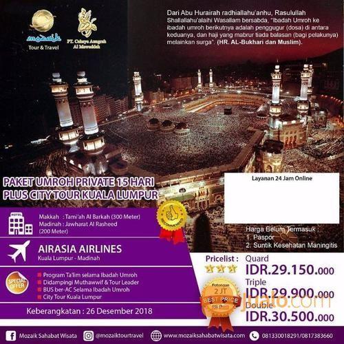 Paket Akhir Tahun 2018 Umroh 15Hari (18021119) di Kota Surabaya