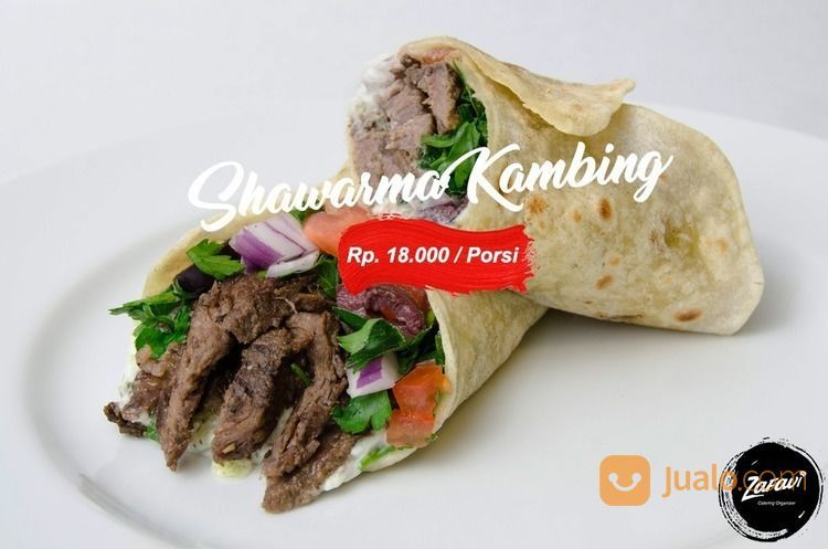 PAKET CATERING SHAWARMA KAMBING / KEBAB ISI DAGING KAMBING (18060255) di Kota Jakarta Selatan