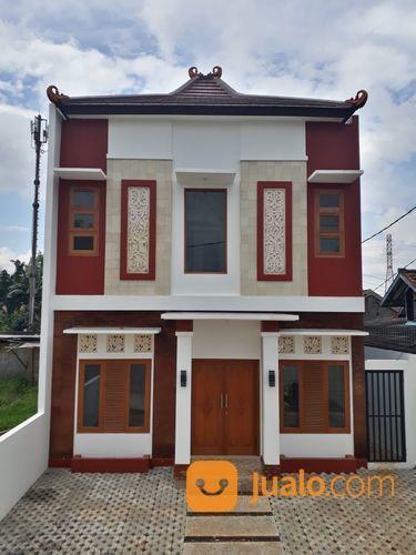 Rumah Baru 2 Lantai Fasilitas Kolam Renang Gazebo Di Halaman Belakang (18182355) di Kota Depok