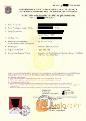 Pengurusan Permohonan Pendaftaran Siup Surat Izin Usaha Perdagangan Jakarta Barat Jualo