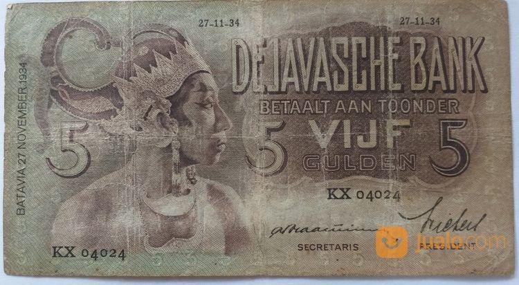 5 Gulden Wayang Th 1934 Malang Jualo