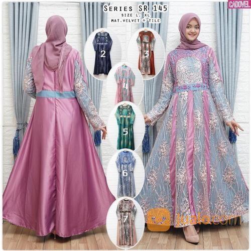 Baju Gamis Long Dress Brukat Timbul Pink Kangsjeans Real Pict Jakarta Barat Jualo