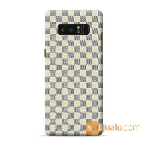 White Checkered Pattern Samsung Galaxy Note 8 Custom Hard Case (18416183) di Kota Bekasi