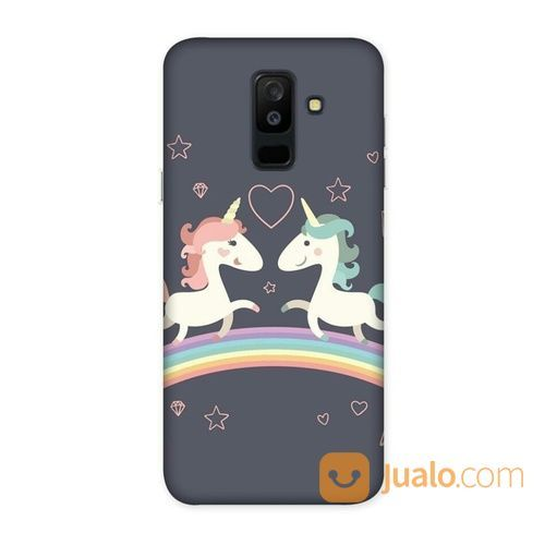 Unicorn Duo Samsung Galaxy A6 Plus Custom Hard Case (18514955) di Kota Bekasi
