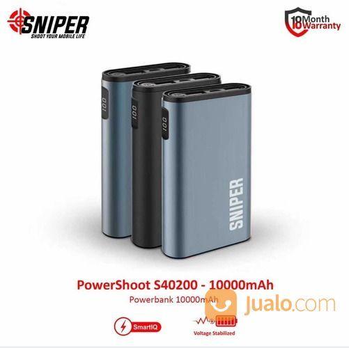 Sniper PowerShoot S40200 - 10000mAh Power Bank Hitam (18539343) di Kota Bekasi