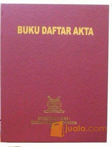 Buku Daftar Akta Notaris Jakarta Jualo
