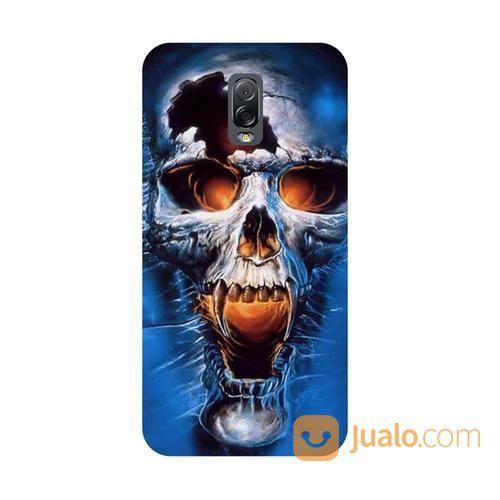 Skull Blue Samsung Galaxy J7 Plus Custom Hard Case (18617975) di Kota Bekasi