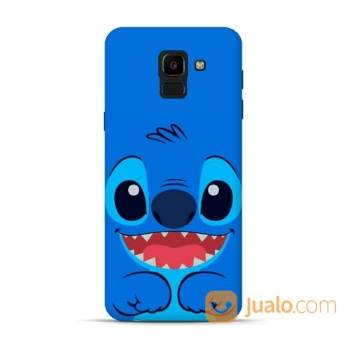 Stitch Smiling Face Samsung Galaxy J6 2018 Custom Hard Case (18642575) di Kota Bekasi