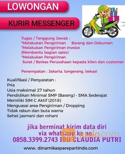 Dibutuhkan Kurir Kantor Sim C Jakarta Barat Jualo