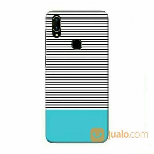 Blue Black Stripes Vivo V11 - V11i Custom Hard Case (18823883) di Kota Bekasi