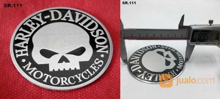 Emblem Timbul Skull Harley Aluminium.9cm (18887395) di Kota Bogor