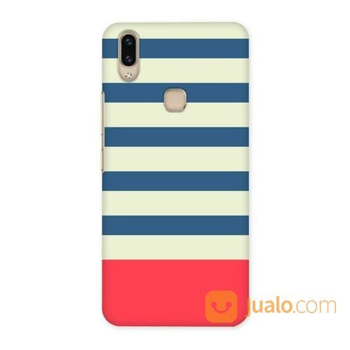 Blue Red And White Stripes Vivo V9 Custom Hard Case (18889367) di Kota Bekasi