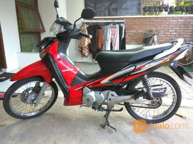 Jual Supra X 125 Tahun 2007 Merah Orisinil Motor Bekas Honda