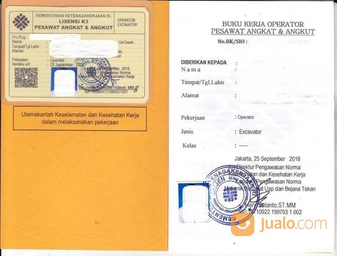 Jasa Pembuatan Surat Izin Operator Sio Excavator Atau Sio Beko (18959407) di Kota Bekasi