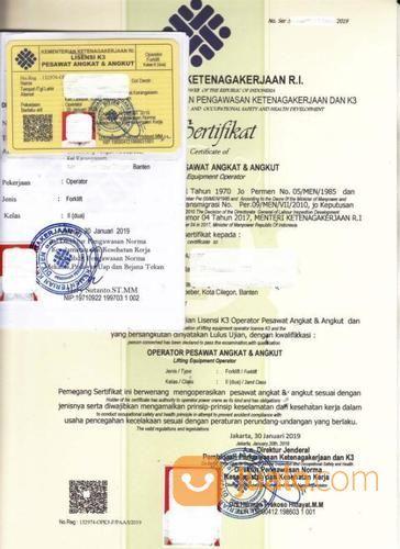 Kepengurusan Izin Sia Alat Dan Sio Surat Ijin Operator Forklift Depnaker (18959647) di Kota Bekasi