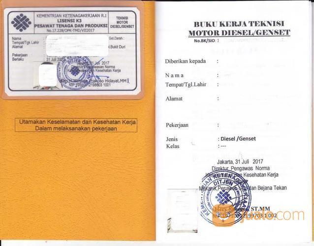 Jasa Kepengurusan Surat Izin Operator Genset Generator Set Dan Sio Kompressor (18959859) di Kota Bekasi